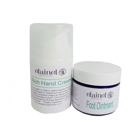 Hand cream and foot ointment
